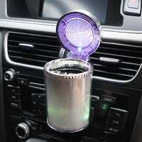 Movable Car Ashtray Travel Cup Cylinder Holder with LED Light