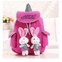 Lace Color Canvas Rabbit Bag Backpack Shoulder bag For Women
