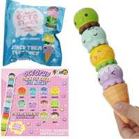 Puni Maru Rare Stack Octopus Ice Cream Squishy With Magnet 4CM Licensed Slow Rising Original Packaging