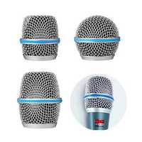 Microphone Grille Metal Windscreen Fits Beta 58A/57A/87A Microphone