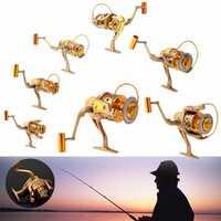 10BB 5.5:1 Gear Spinning Spool Fishing Reel Aluminum Salt Freshwater Right Left Interchangeable