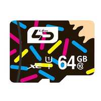LD 64GB Class 10 High Speed Storage Flash Memory Card TF Card for Xiaomi iPhone Mobile Phone