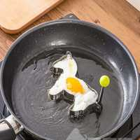 Honana Horse Shape Fried Egg Mold Stainless Steel Pan Cake Egg Ring Mould Cooking Tool