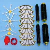 18pcs Filters and Brushes Vacuum Cleaner Accessory Kit for iRobot Roomba 500 Series