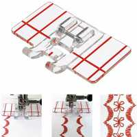 Sewing Machine Parallel Stitch Sewing Tool Simple Mini Clear Plastic Parallel Stitch Foot Presser for Multifunction Domestic