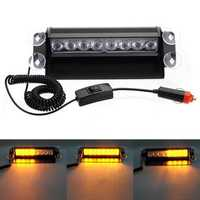 8 LED Car Deck Dash Strobe Flash Warning Emergency Lights