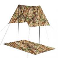 3 in 1 Multifunctional Outdoor Poncho Raincoat Waterproof Picnic Mat Tent Sunshade Camping Hiking