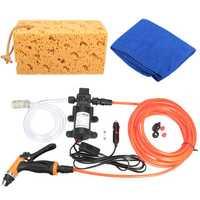 Portable 12V 60W 100PSI High Pressure Car Electric Washer Auto Wash Pump Kit Set