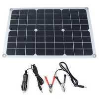 20W 18/5V 42*28cm DC Monocrystalline Solar Panel with DC5521 Battery Clip