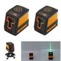 2 Line Green/Red Light Mini Laser Level Self Leveling 360° Rotary Measure Cross