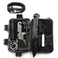 IPRee® A8 10 in 1 Outdoor EDC Survival Tools Case SOS First Aid Kit Emergency Multifunctional Box