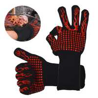 Silicone Extreme Heat-insulated Cooking Glove Oven Hot BBQ Grilling Heating Proof Mitt