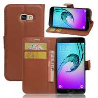 Lychee Leather Magnetic Flip Bracket Card Solt Wallet Case for Samsung Galaxy A3 A5 A7 2017