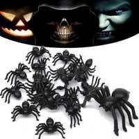 20pcs Halloween Plastic Spiders Spider Funny Joking Toy Decoration