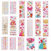 Multi Pattern Art Cartoon Children Sticker Water Transfer Nail Art Tattoo Temporarily Nail Tips Decals Decor