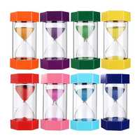 EDC 15min Sand Clock Timer Hexagonal Autism Hourglass Sandglass 8 Colors