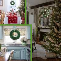 30CM 40CM 50CM Christmas Wreath Door Wall Hanging Decorations Christmas Party Decor