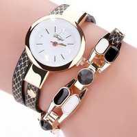 DUOYA DY106 Fashionable Vintage Leather Women Bracelet Watch