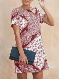 Short Sleeve Floral Mini Dress
