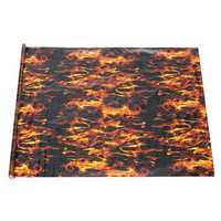 PVA Hydrographic Black Flame Fire Water Transfer Printing Hydro Dip Film Car Decal
