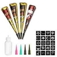Skymore Indian Henna Tattoo Paste Temporary Tattoo Kit