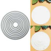 8PCS Ring Metal Die Cutting DIY Scrapbook Photo Paper Card Gift Party Decor