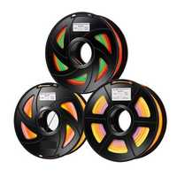 1KG/Roll 1.75mm Raindow Color Gradient PLA Filament for 3D Printer