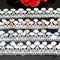 1 Yard Two Tone Polyester Embroidery Lace Trim DIY Sewing Needlework Accessories
