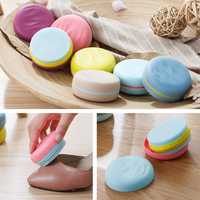 Creative Portable Macaron Hit Color Double-sided Sponge Shoes Brushes Mini Travel Cleaning Brushes