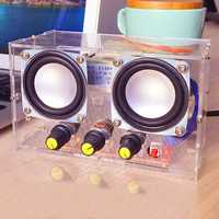 Small Amplifier Two Channel Speaker Audio Kit TDA2030 Mini Electronic DIY Production Parts Assembly