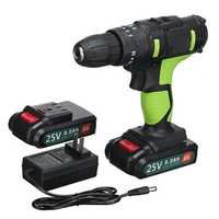 3 in 1 25V Cordless Electric Screwdriver 2 Speed Impact Hand Drill Chuck 0.8-10mm