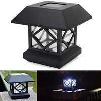 1.2V Garden Lawn Solar White LED Pillar Lamp Outdoor Cottage Courtyard Fence Light
