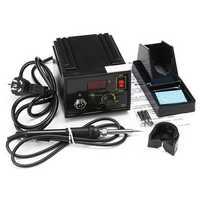 110V 220V 967 Electric Rework Soldering Station Iron LCD Display Desoldering SMD Tool