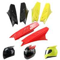 Men's Motorcycle Helmet Horns Accessories Yellow Red Black With Scotch Tapes