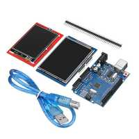 UNO R3 Improved Version + 2.8TFT LCD Touch Screen + 2.4TFT Touch Screen Display Module Kit For Arduino