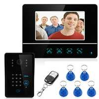 ENNIO SY811MJIDS11 Wired 7inch Video Door Phone Intercom RFID Keypad Doorbell 1000TVL Monitor Camera