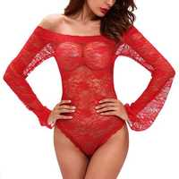 Yiranshini Lace Strapless Trumpet Sleeves Tube Dress Tight Elastic Piece Pajamas