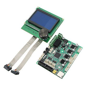 3D Printer Upgrade Mainboard Control Board+LCD Screen For Creality CR 10S/S4/S5