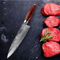 FINDKING Damascus Stainless Steel Knife Blade Color Wood Handle Stone Shape 8 inch Damascus Knife Chef Knife 67 Layers Damascus Steel Knife