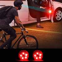 Universal Wireless LED Car Door Opening Warning Signal Light Safety Flash Lamp Anti-collision Waterproof Red 2PCS