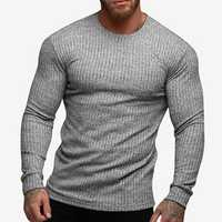 Men Skinny Fit Active Ribbed T-Shirts