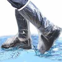 Men Women Rain Shoes Cover Waterproof High Boots Flats Slip Resistant Overshoes Rain Gear