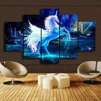 Honana DX-125 5PCS Horse Modern Wall Art Oil Painting Canvas Print Home Decoration