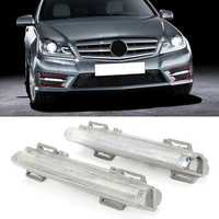 Car LED Front DRL Fog Lights Left/Right for Mercedes-Benz W204 W212 C250 C280 C350 E350 A2049068900, A2049069000