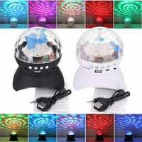 Colorful LED Stage Light TF Card FM Radio Disco Party bluetooth Speaker