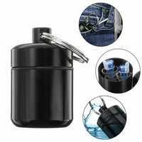 Portable Mini Medicine Bottles Holder Alloy Pill Drug Box Earplug Storage Waterproof