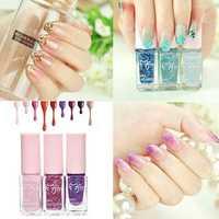 3Pcs Gradual Color Change Changing Glitter Nail Art Polish Enamel Kit Set