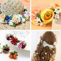DIY Foam Floral Artificial Fake Flower Leaf Bouquet Wedding Bridal Party Artificial Flowers Decor