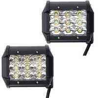 4 Inch LED Spot/Flood Beam Work Light Bar DC10-30V 27W 2295LM 6000K for Off Road Vehicle Truck Boat