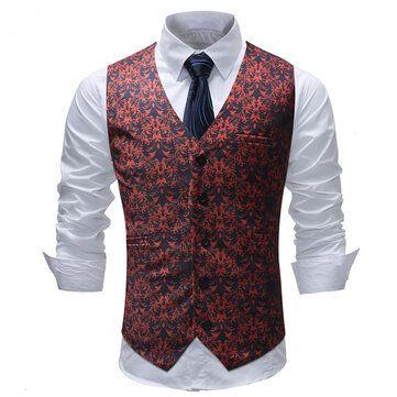 Spring Autumn Fashion Slim Waistcoat Suit Vest for Men